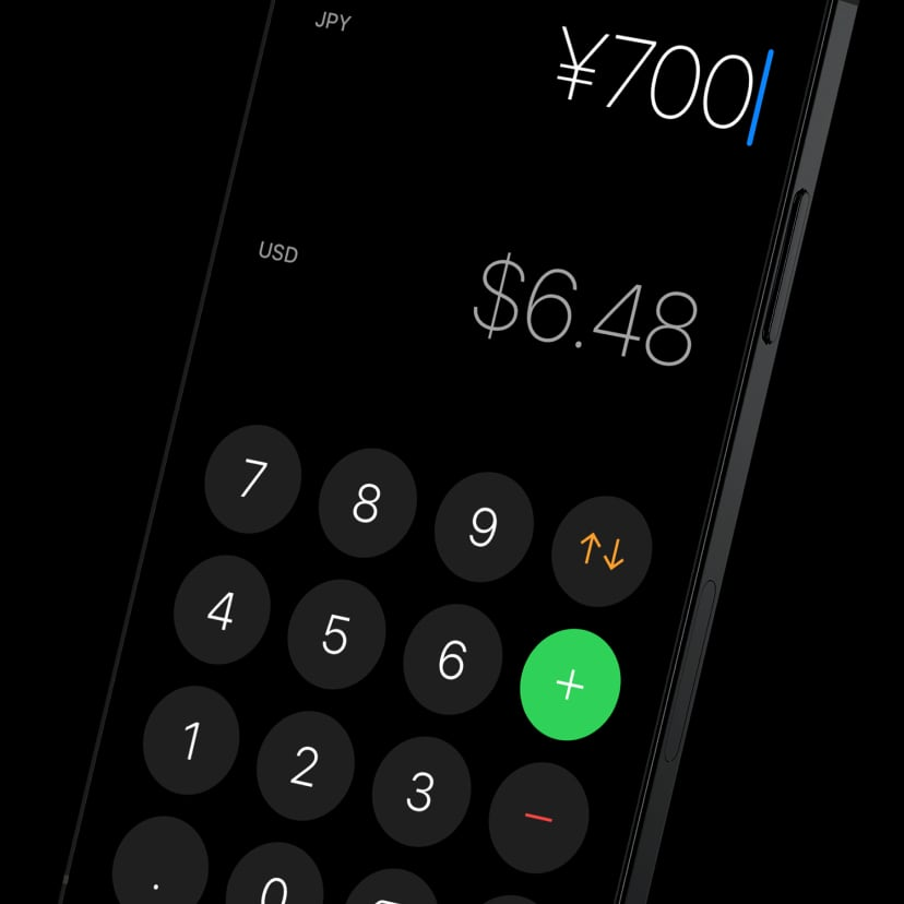 Currency for iOS dark mode, work by Nuno Coelho Santos